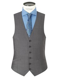 Richard James Mayfair Tonic Sheen Slim Waistcoat Charcoal