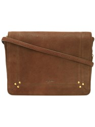 Jerome Dreyfuss Nestor Satchel Women Cotton Goat Skin One Size Brown