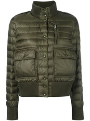 Moncler Padded Bomber Style Jacket Green