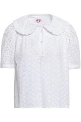 Shrimps Woman Broderie Anglaise Cotton Blouse White
