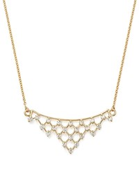 Bloomingdale's Diamond Lattice Pendant Necklace In 14K Yellow Gold .50 Ct. T.W. 100 Exclusive White Gold