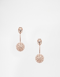 Love Rocks Ball Throu And Throu Stud Earrings Peachgold