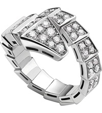Bulgari Serpenti 18Ct White Gold And Diamond Ring