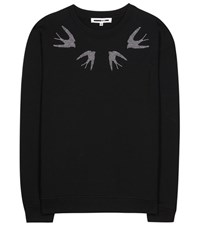 Mcq By Alexander Mcqueen Embellished Cotton Sweater Black