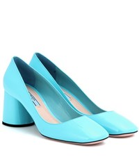 Prada Patent Leather Pumps Blue