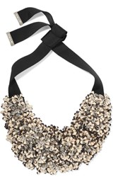 Etro Bead And Crystal Necklace Black