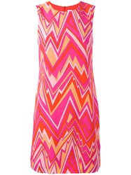 M Missoni Zig Zag Print Shift Dress Pink Purple