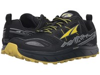 Altra Footwear Lone Peak 3 Black Yellow Men's Shoes Gray