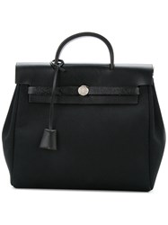 Hermes Vintage Herbag Backpack 2 In 1 Black
