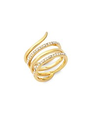 Saks Fifth Avenue Wrap Around Studded Ring Gold