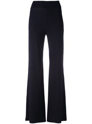 D.Exterior Wide Leg Soft Trousers Black
