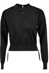 Golden Goose Kate Embroidered Knitted Sweater Black
