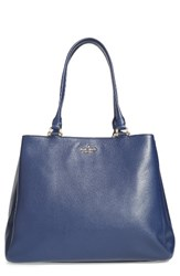 Kate Spade New York Lombard Street Neve Leather Tote Blue French Navy