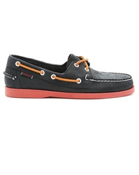 Sebago Docksides Blue Nubuck Boat Shoes