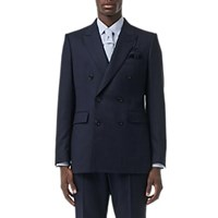 Burberry Hopsack Double Breasted Suit Navy