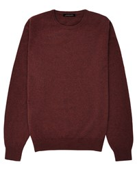 Jaeger Cashmere Crew Neck Sweater Brilliant Red
