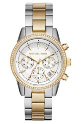 Michael Michael Kors Women's Ritz Chronograph Bracelet Watch 37Mm