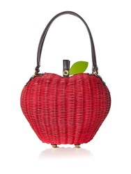 Ollie And Nic Apple Basket Bag Red
