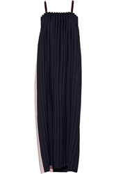 Opening Ceremony Two Tone Pleated Cady Maxi Dress