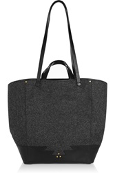 Jerome Dreyfuss Paco Leather Trimmed Wool Tote