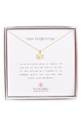 Dogeared Women's Lotus Reminder Pendant Necklace Gold