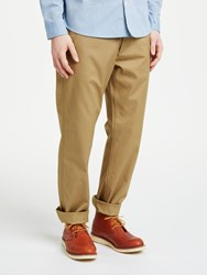 John Lewis And Co. Garment Dye Canvas Chino Trousers Sand
