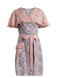 The Vampire's Wife Charlotte Liberty Floral Print Cotton Dress Pink Print