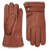 Dents Gloucester Cashmere Lined Full Grain Leather Gloves Brown