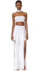 Torn By Ronny Kobo Meredith Two Piece Dress White