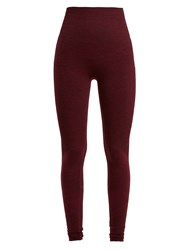 Lndr Eight Eight Compression Seamless Leggings Burgundy