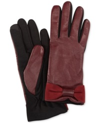 Charter Club Tech Bow Gloves Oxblood