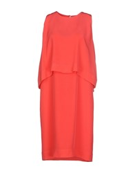 Fabrizio Lenzi Dresses Knee Length Dresses Women Coral