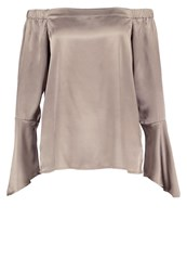 Neon Rose Blouse Grey