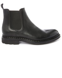 Heschung Tremble Black Smooth Leather Elastic Boots