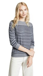 Kule The Sophie Cashmere Sweater Heather Grey Navy