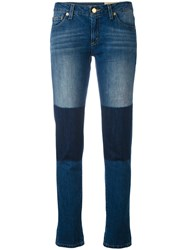 Michael Michael Kors Contrast Patch Jeans Women Cotton 0 Blue