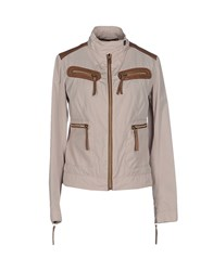 Trussardi Jeans Coats And Jackets Jackets Women Sand