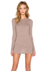 Three Dots Long Sleeve Tunic Brown