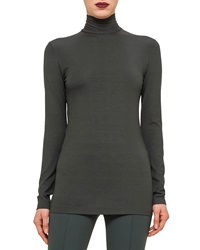 Akris Punto Modal Jersey Mock Neck Top