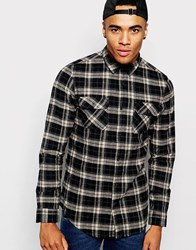 New Look Check Shirt With Long Sleeves Grey