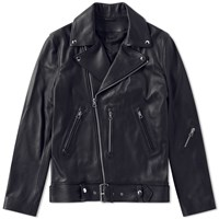 Acne Studios Nate Clean Leather Jacket Black