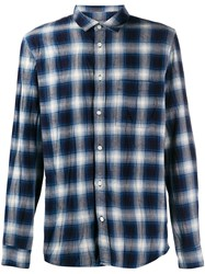 Zadig And Voltaire Plaid Shirt Blue