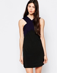 By Zoe By Zoe Skater Dress With Cross Neck Navynuit