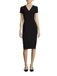 Lk Bennett Collar Detail Bodycon Dress Black Black