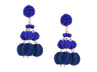 Lilly Pulitzer Salsa Copa Clip On Earrings Bright Navy Earring