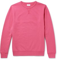 Hartford Loopback Cotton Jersey Sweatshirt Red