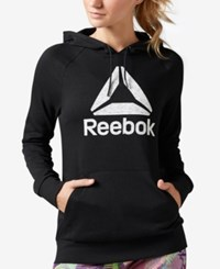 Reebok Workout Ready Pullover Graphic Hoodie Black