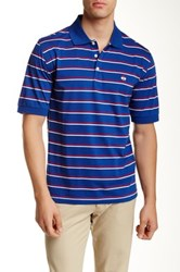 Brooks Brothers Jersey Feeder Double Stripe Polo Blue