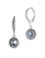 Judith Jack Cubic Zirconia Marcasite And Sterling Silver Drop Earrings