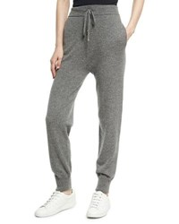 Agnona Cashmere High Waist Jogger Pants Charcoal